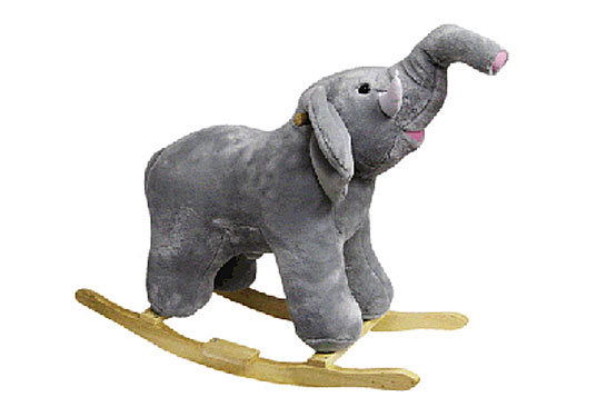 Elephant Rocker, Ellie Mc Ellie, Plush Elephant Rocker, Plush Toy Rocker