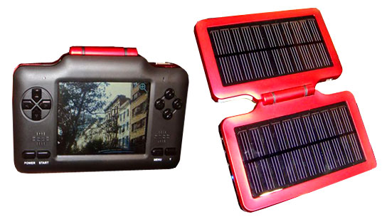 eMotion Solar PMP, eMotion Solar Media Player, eco portable media player, Solar powered media player, green media player, electricity generating, eco gadgets, green gadgets, greener gadgets, solar power gadgets, solar gadgets
