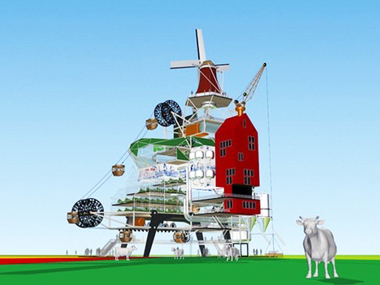 oongst, tjed, dutch, windmill, sustainable design, green design, eco city, wind powered, amusement park