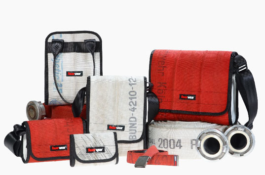 Feuerwear, recycled bags, firehose bags