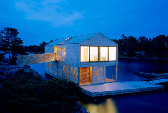 floating house, Mos architecture, floating prefab home, floating prefab, floating prefab house, huron sustainable building, prefab cabin, lake huron cabin, mos, floating house mos, lake cabin sustainable building
