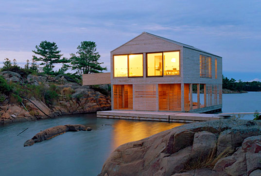 beautiful lake huron floating house by mos inhabitat