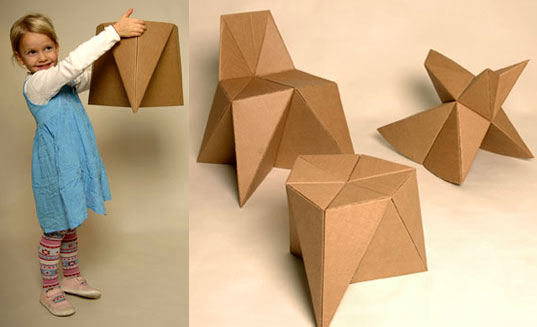 Inhabitat » FOLDSCHOOL DIY Foldup Cardboard Furniture for Kids