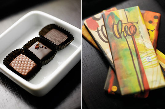 inhabitat gift guide for her, theo chocolates, fair trade organic chocolate, organic chocolate