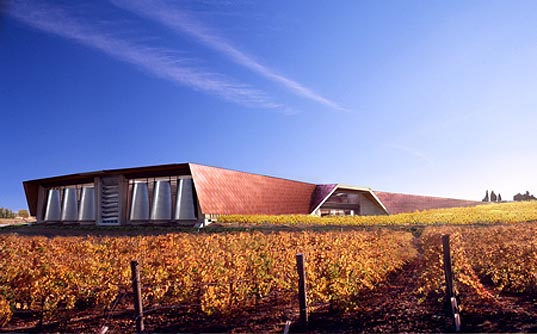foster + partners, winery, spain, sustainable, green, earth covered