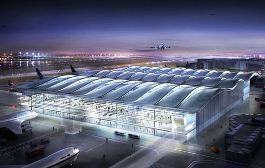 heathrow terminal, terminal, terminal 2, foster + partners, london, heathrow, solar system, daylight, sustainable design, green architecture