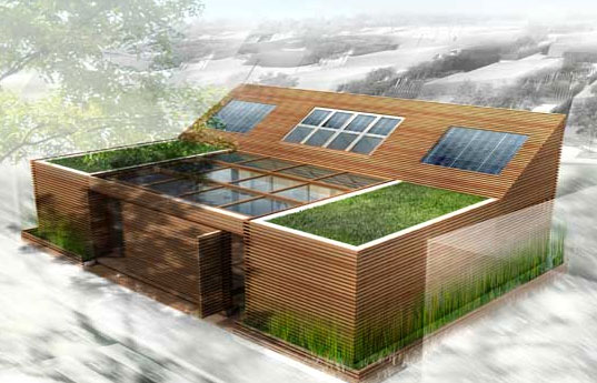 Green French Prefab, Sustainable Building Design, Eco Prefab House, Sustainable Prefabricated Housing, Green Prefab Home, Construisons Demain, Batimat, Eric Wuilmot, prefabricated housing, Paris, modular architecture