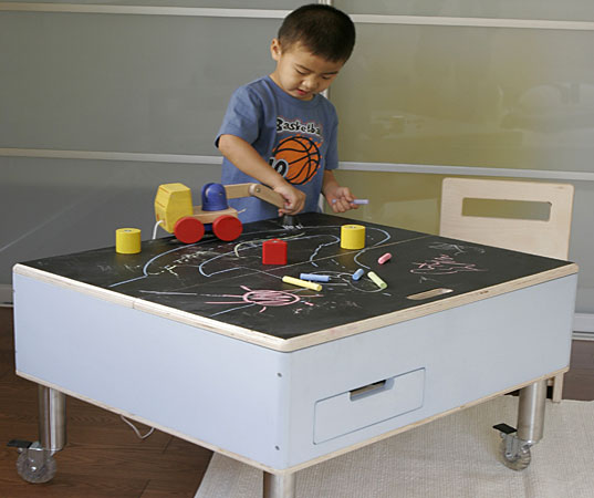 Blackboard Kids Play Table, Fundy Argington Play table, Kids Furniture, Green Childrens Furniture, Green Kids Furniture, Eco kids table, Green Childs table