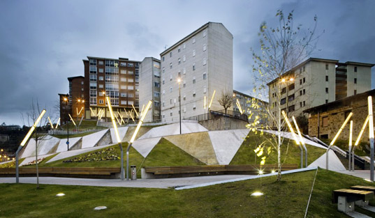 sustainable design, green design, urban planning, urban design, acxt architects, bilbao spain, pau casals square