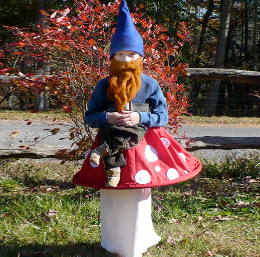 garden gnome, green halloween, diy halloween costume, diy, eco halloween costume, costume, make it yourself costume, cheap costume, last minute costume