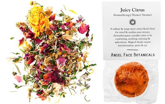 angel face botanicals, eco beauty care, green beauty care, environmentally friendly beauty, eco shower steamers, green steamers, environmentally friendly steamers