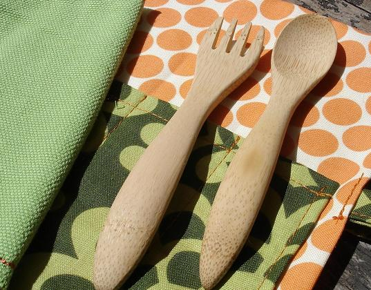 pony up design, pony up flatware, bamboo flatware, eco flatware, environmentally friendly flatware