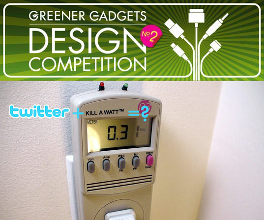 greener gadgets design competition, sustainable design, green design, green gadget, consumer electronics, live judging gadget competition, blight, tweet-a-watt
