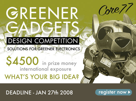 Greener Gadgets Design Competition, Core77.com, Core77, Greener Gadgets Conference, Natalie Jeremijenko Robotic Dog, Sustainable Electronics Design Competition