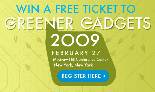 Greener Gadgets Conference, Greener Gadgets Ticket Competition, Greener Gadgets Ticket Giveaway, Greener Gadgets Design Competition, Green Gadget, Green electronics show, CEA, Inhabitat