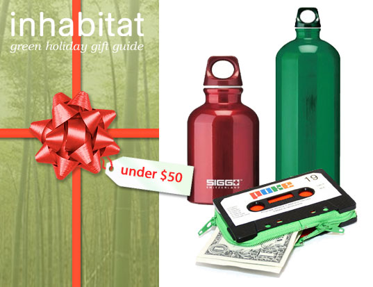 INHABITAT GREEN HOLIDAY GUIDE, Inhabitat Green Holiday Gift Guide, Cheap Green Gifts, Affordable Green Gifts, Green Gifts Under $50, Bargain hunters green gifts