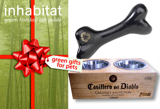 inhabitat green pet gift guide, holiday gift guide for pets, eco friendly pet care, green design, sustainable petcare, eco design, inhabitat holiday gift guide