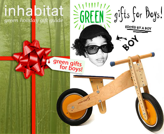 inhabitat green holiday gift guide, green design, kids gift guide, sustainable gift ideas, green gift ideas, sustainable style, boys gift guide