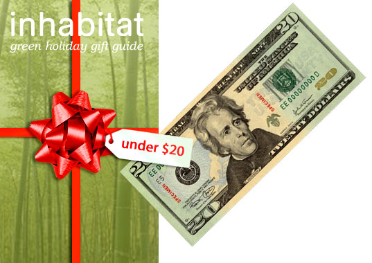Inhabitat green gift guide, eco-friendly gift guide, green gift guide, green holiday gifts, under $20, cheap green gifts, green gifts under $20