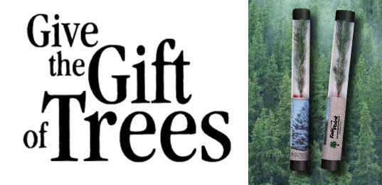 arbor day, give trees, give flora, gifts that give back, tree gifts, plant gifts, holiday green gifts