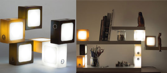 Glide Twist-Together Lamps, LED lamps, kids lamps, kids light, children toy lamps, lego lamps