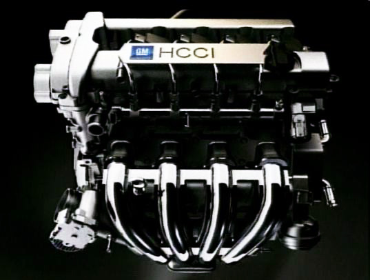 GM HCCI engine, General Motors efficient engine, GM petrol engine, GM hybrid vehicle engine, Homogeneous charge compression ignition engine, General Motors green petrol engine, green design