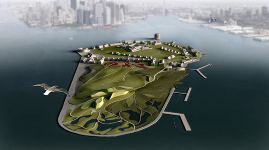 governors island, sustainable development, new york city, west 8, diller scofidio, reclaimed materials, sustainable landscaping, green building, rogers marvel architects, governors island redevelopment