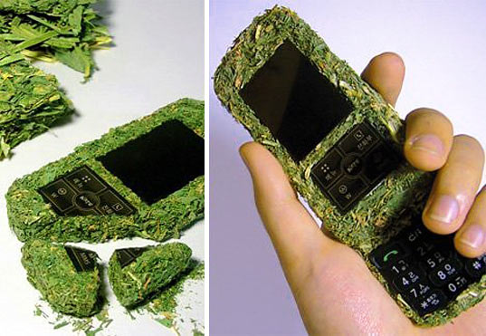 grass cell phone, grass phone, sustainable design, biodegradable cell phone, green design, Je-Hyun Kim, cell phone lifecycle, e waste