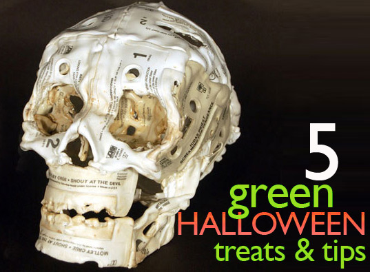 green-halloween-inhabitots, inhabitots, green halloween, eco halloween, halloween treats, healthy treats, cassette take skulls, sustainable halloween
