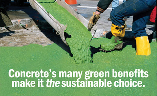 concrete green building material, sustainable concrete, is it green concrete, concrete sustainability report, can concrete be green, building material sustainability