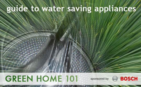Green Home 101, Buying water saving appliances, green appliances, green dishwashers, water saving, sustainable design, green design, water efficient