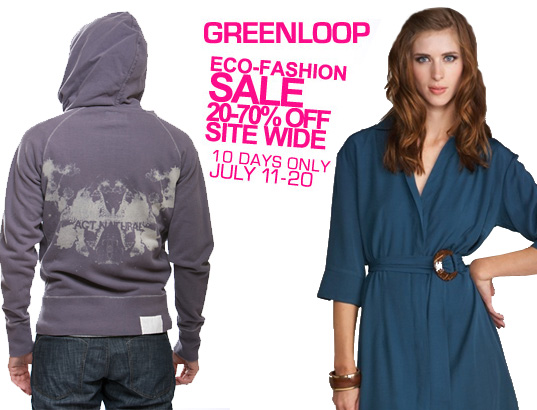 greenloop, the Green Loop, Eco fashion, organic fashion, sustainable style, summer sale