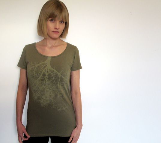 Inhabitat Sage Green Tree T-shirt, Inhabitat Green T-shirt, Inhabitat T-shirt, Inhabitat T shirt, Inhabitat eco-friendly T-shirt, Inhabitat apparel