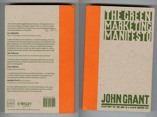green marketing manifesto, 2008 british book design and production award, sustainable design, products and packaging, green design, green book