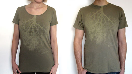 Inhabitat Organic green t-shirts