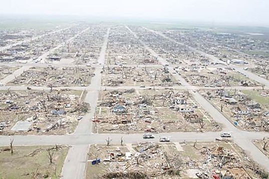 "Tornado Damage in Greensburg, Kansas, Discovery Communications, Planet Green Channel, ""Eco-Town"", Leonardo DiCaprio, Sustainable Building"