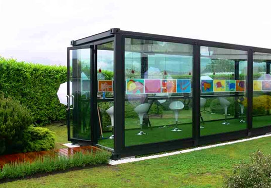 greentainer, container architecture, prefab container, prefab building, container building, green container, prefab architecture