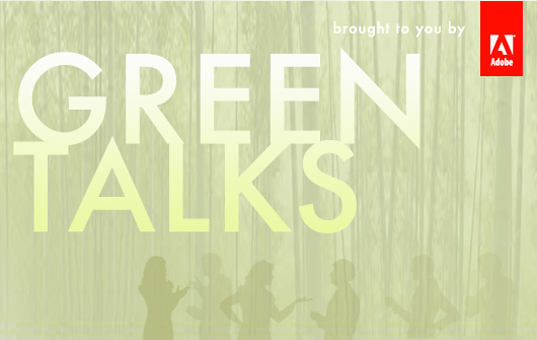sustainable design, green design, inhabitat, announcement, webcast, web meeting, Adobe Green Talks