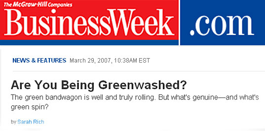 Greenwashing, Businessweek, Sarah Rich, Swiffer, Greenwash