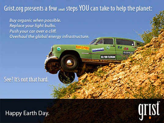 gristmill, screw earth day campaign, earth day 2009, green rant, eco rant