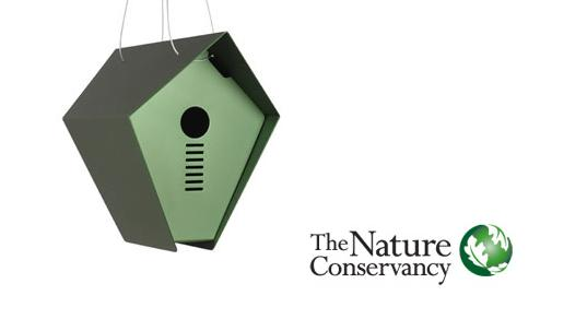the nature conservancy gifts, hepper birdhouse, natural birdhouse, eco friendly birdhouse, environmentally friendly birdhouse, inhabitat green gift guide, green holiday gifts, gifts that give back, socially conscious design, sustainable design