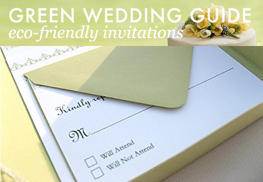 Green Wedding Guide: Eco-friendly invitations