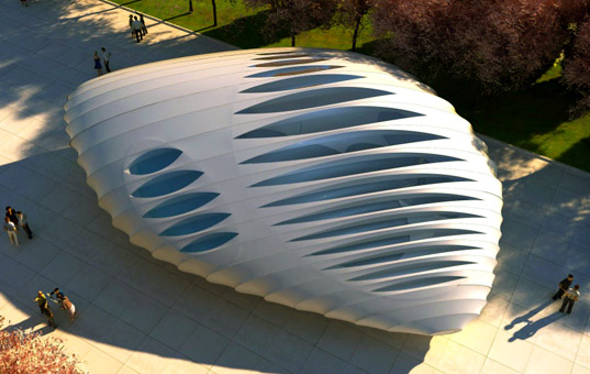 sustainable architecture, green building, zaha hadid, eco pavilion, chicago, ben van berkel, green design, recyclable materials, eco building