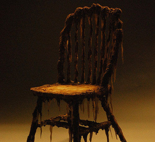 Zombie Chair, hongtau zhou, environmental art, halloween, green furniture, furniture design