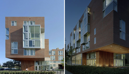 harvard graduate dorms, harvard eco student residence, sustainable college campus, harvard sustainable campus, kyu sun woo, sustainable building, green architecture