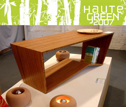 HAUTE GREEN 2007: Now accepting submissions, Rhubarb Designs, Todd Laby, sustainable design, eco design, green furniture design
