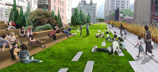 High Line railway rendering