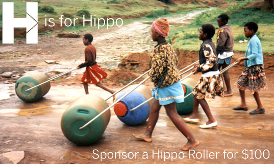 Hippo Roller, Hippo Water Roller, H is for Hippo, Project H Design, water transportation, water transport device, water project africa, water systems,