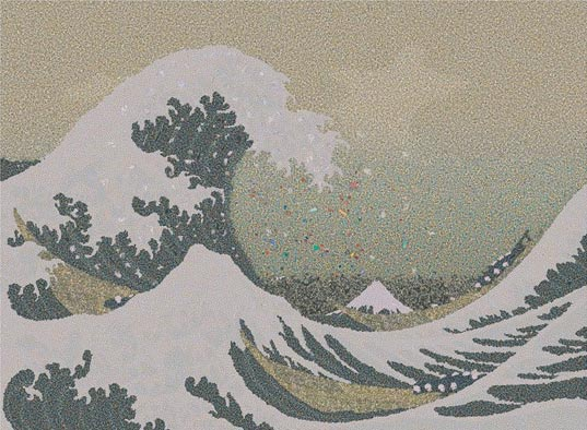 gyre, chris jordan, pacific garbage patch, eco art, the great wave off kanegawa