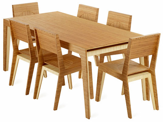 Brave Space, Furniture, Bamboo, Hollow Dining Set